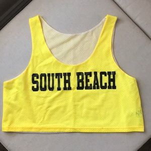 South Beach Yellow Cropped Jersey